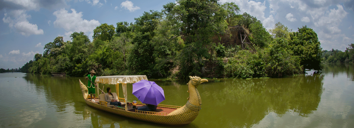 Angkor Gondola Boat Ride Day-Tour OR Sunset-Tour
